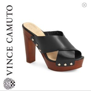 💕SALE💕 Vince Camuto Black Elora Studded Mules